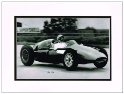 Stirling Moss Autograph Signed Photo